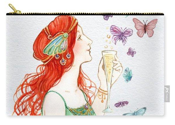 Vintage Art Nouveau Lady Party Time Carry-all Pouch