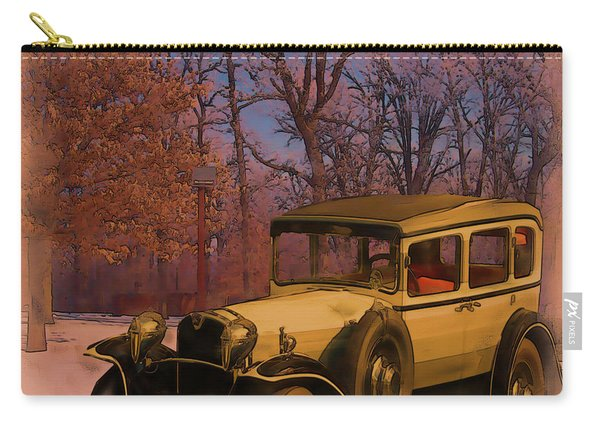 Vintage Auto In Winter Carry-all Pouch