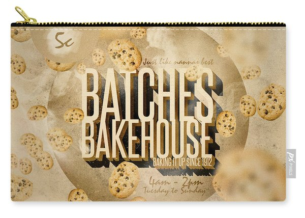 Vintage Bakery Ad - Batches Bakehouse Carry-all Pouch