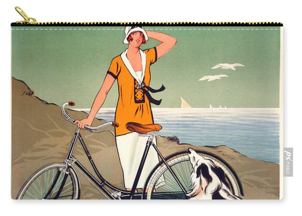 Vintage Bicycle Advertising Carry-all Pouch