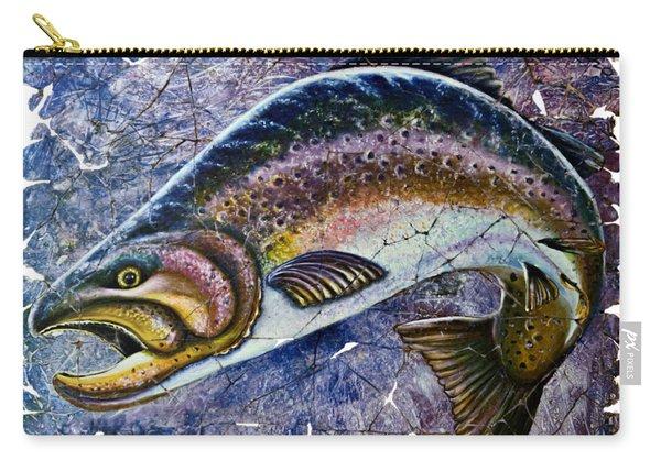 Vintage Blue Trout Fresco  Carry-all Pouch