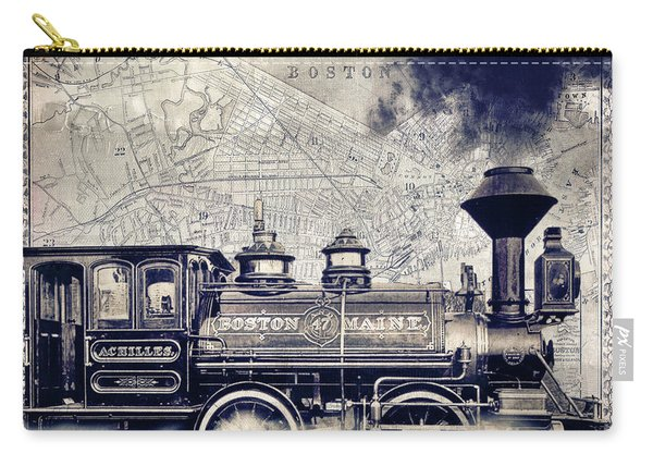 Vintage Boston Railroad Carry-all Pouch