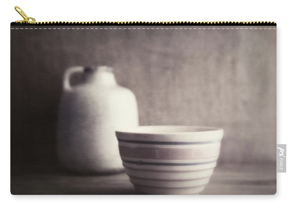 Vintage Bowl With Jug Carry-all Pouch