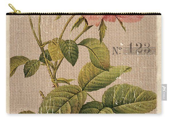 Vintage Burlap Floral 2 Carry-all Pouch