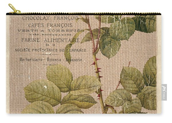 Vintage Burlap Floral 4 Carry-all Pouch