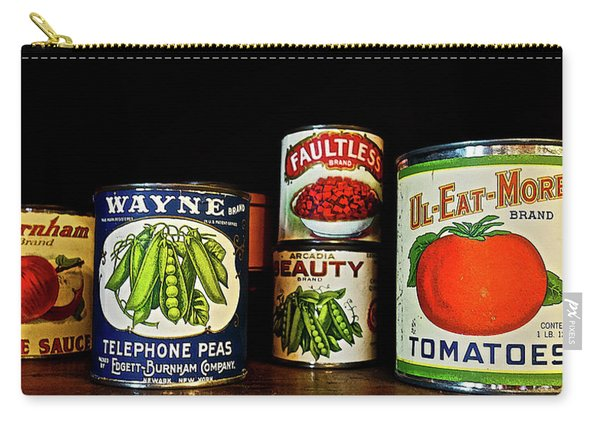 Vintage Canned Vegetables Carry-all Pouch