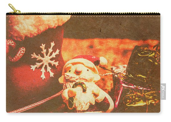 Vintage Christmas Art Carry-all Pouch