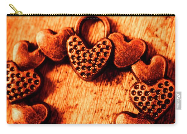 Vintage Circle Of Hearts Carry-all Pouch