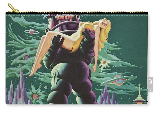 Vintage Classic Movie Posters, Forbidden Planet Carry-all Pouch