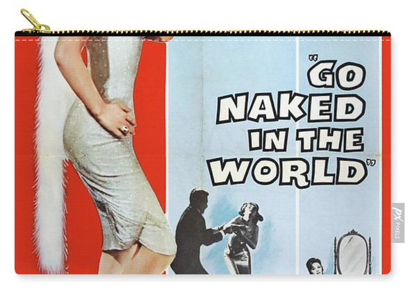 Vintage Classic Movie Posters, Go Naked In The World Carry-all Pouch