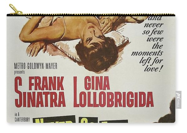 Vintage Classic Movie Posters, Never So Few Carry-all Pouch