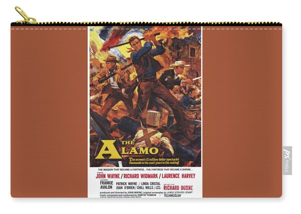 Vintage Classic Movie Posters, The Alamo Carry-all Pouch