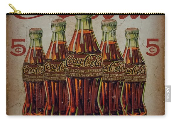 vintage Coca Cola sign Carry-all Pouch