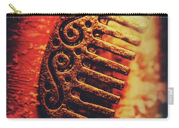 Vintage Egyptian Gold Comb Carry-all Pouch