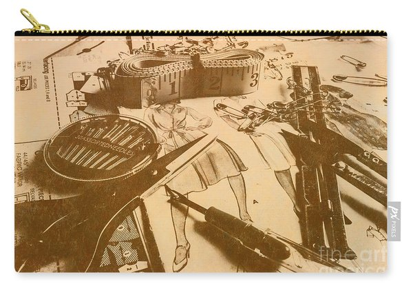 Vintage Fashion Design Carry-all Pouch