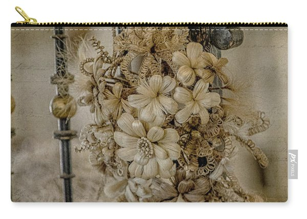 Vintage Floral Swag On A Bedpost Carry-all Pouch