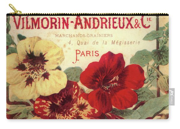 Vintage Flower Seed Cover Paris Rare Carry-all Pouch