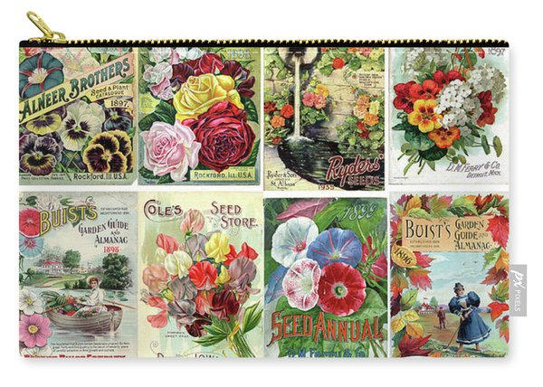 Vintage Flower Seed Packets 1 Carry-all Pouch