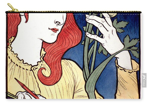 Vintage French Advertising Art Nouveau Salon Des Cent Carry-all Pouch