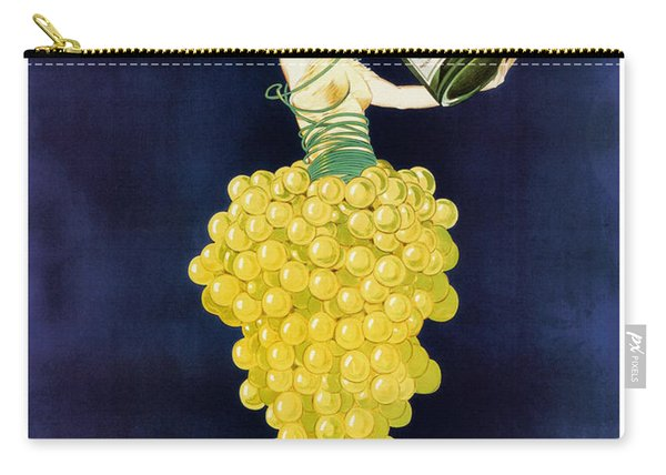 Vintage French Champagne Carry-all Pouch