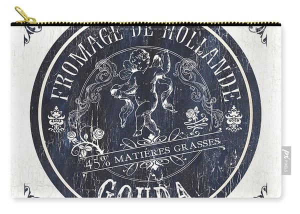 Vintage French Cheese Label 1 Carry-all Pouch