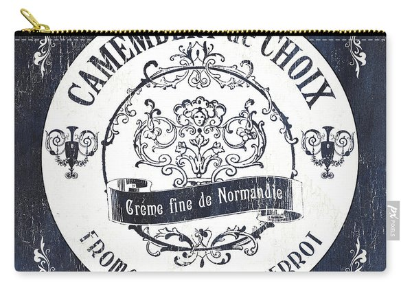 Vintage French Cheese Label 3 Carry-all Pouch