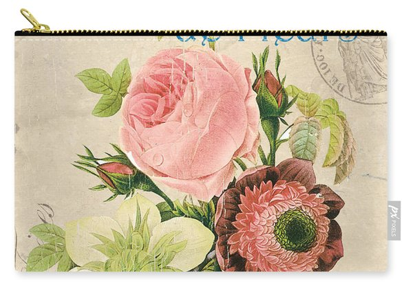 Vintage French Flower Shop 2 Carry-all Pouch