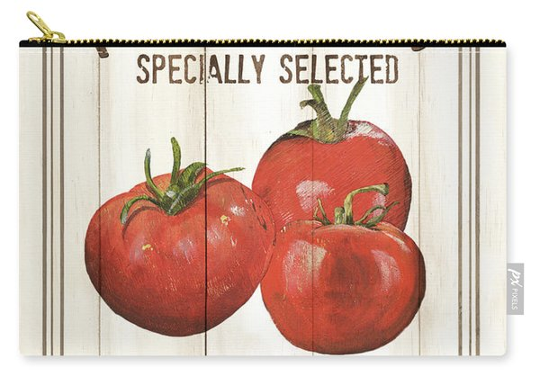Vintage Fresh Vegetables 4 Carry-all Pouch