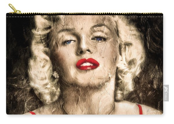 Vintage Grunge Goddess Marilyn Monroe  Carry-all Pouch