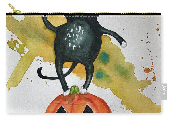 Vintage Halloween Cat Carry-all Pouch