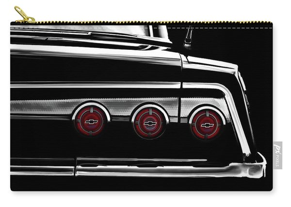 Vintage Impala Black And White Carry-all Pouch