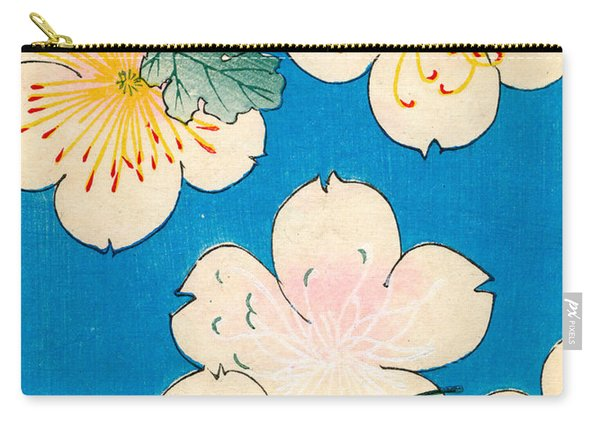 Vintage Japanese Illustration Of Dogwood Blossoms Carry-all Pouch