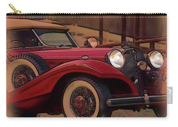 Vintage Mercedes Carry-all Pouch
