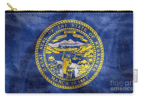 Vintage Nebraska Flag Carry-all Pouch