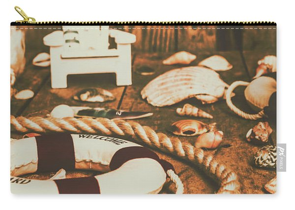Vintage Ocean Porthole Carry-all Pouch