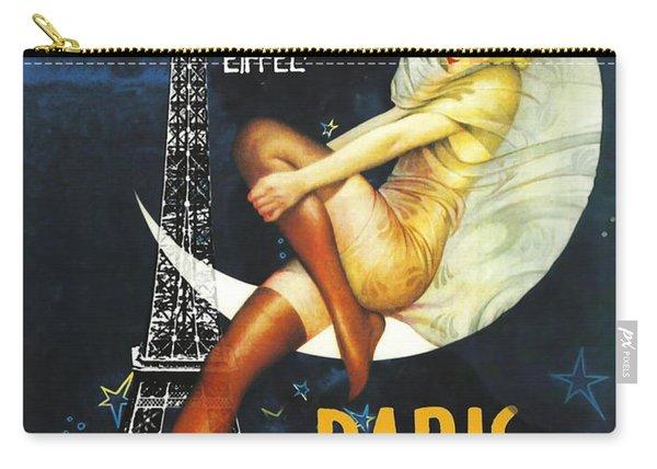 Vintage Paris Moon Carry-all Pouch