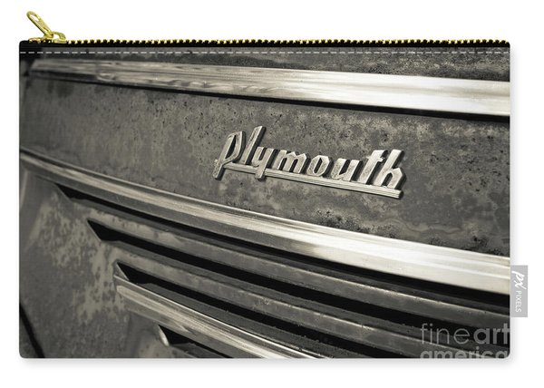 Vintage Plymouth Nameplate Carry-all Pouch