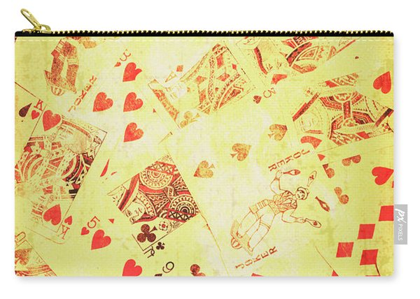 Vintage Poker Background Carry-all Pouch
