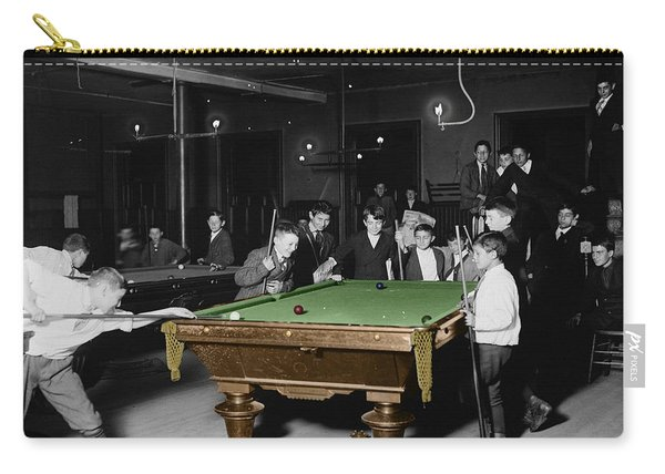 Vintage Pool Hall Carry-all Pouch