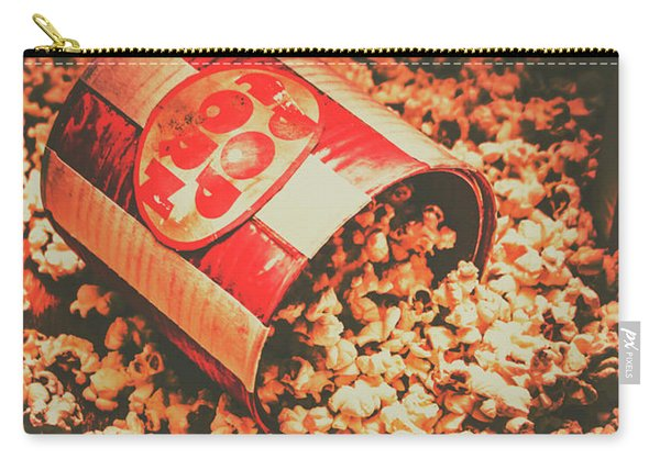 Vintage Popcorn Tin. Faded Films Still Life Carry-all Pouch