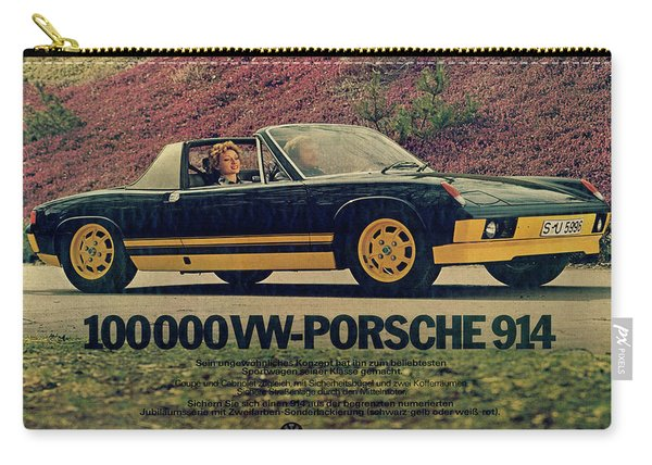 Vintage Porsche 914 Car Poster Carry-all Pouch