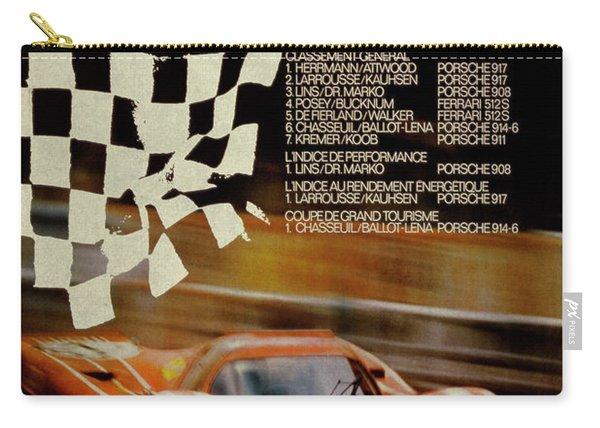 Vintage Porsche Racing Car Poster Carry-all Pouch