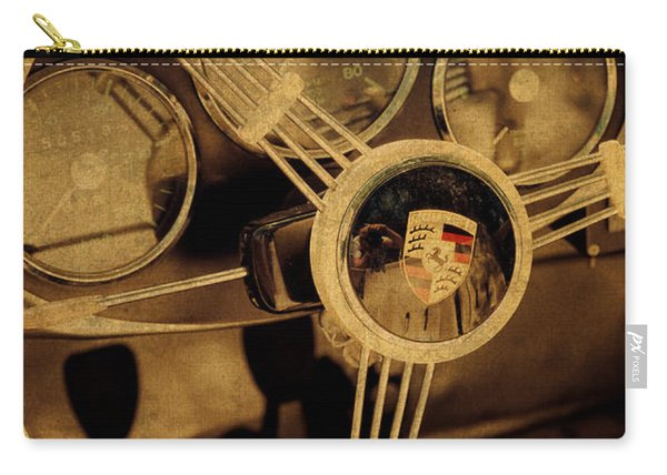 Vintage Porsche Steering Wheel Carry-all Pouch