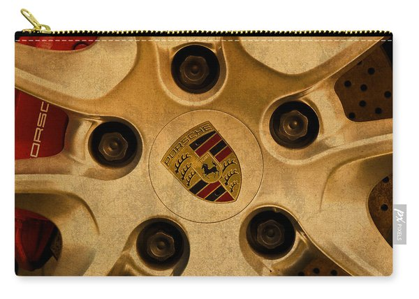Vintage Porsche Wheel Logo Carry-all Pouch
