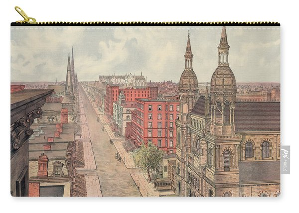 Vintage Print Of Fifth Avenue From 42nd Street In New York City, Looking North, 1904 Carry-all Pouch