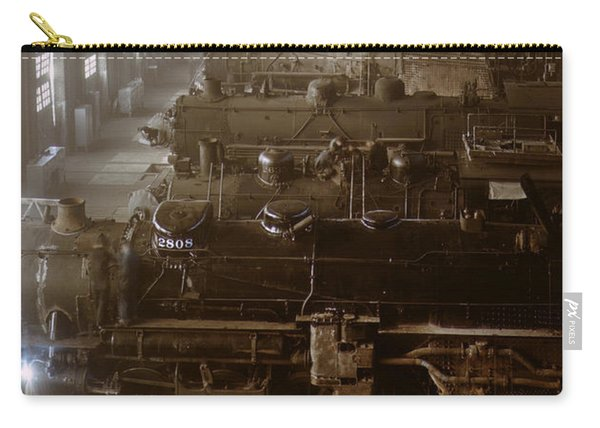 Vintage Railroad Locomotive Shop - 1942 Carry-all Pouch