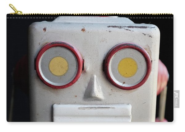 Vintage Robot Square Carry-all Pouch