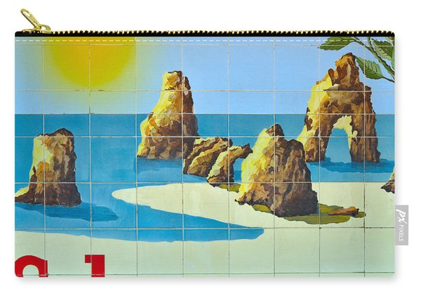 Vintage Schweppes Algarve Mosaic Carry-all Pouch