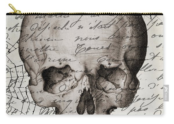 Vintage Skull Halloween Paris Carry-all Pouch