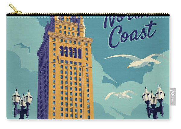 Cleveland Poster - Vintage Style Travel  Carry-all Pouch